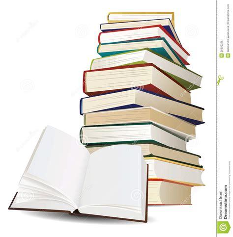 libro a plus livre de pila di libri e di libro aperto immagine stock libera da diritti immagine 20600336
