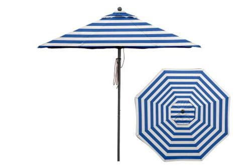 Blue And White Striped Patio Umbrella 7 5 Ft Blue And White Stripe Aluminum Market Umbrella Umbrella Source