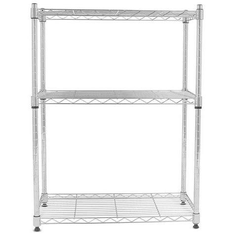 adjustable wire shelving 3 tier wire shelving rack unit storage adjustable metal shelf garage organizer ebay