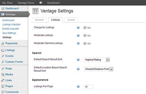 wordpress tutorial vantage setting up payments in vantage payments settings