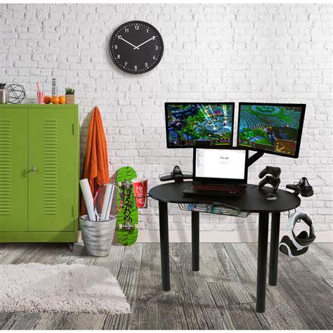 atlantic furniture gaming desk black carbon fiber home styles americana black desk with storage 5003 18