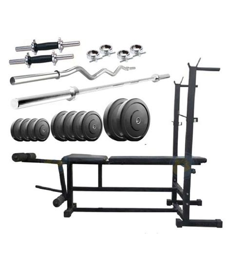 bench press rod weight facto power 6 in 1 bench press 66 kg rubber weight