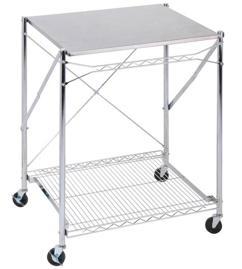 stainless steel utility table stainless steel folding utility table in kitchen island carts