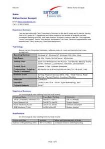 Automation Test Engineer Sle Resume by Bibhas Automation Testing