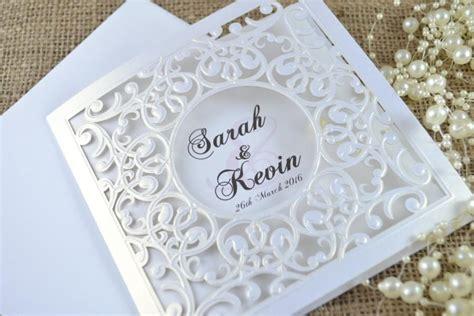 Laser Cut Wedding Invitations by Laser Cut Wedding Invitation White Laser Cut Wedding