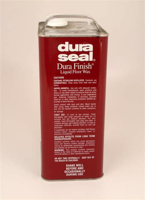 dura seal durafinish liquid wax for hardwood floors coffee brown gallon chicago hardwood flooring
