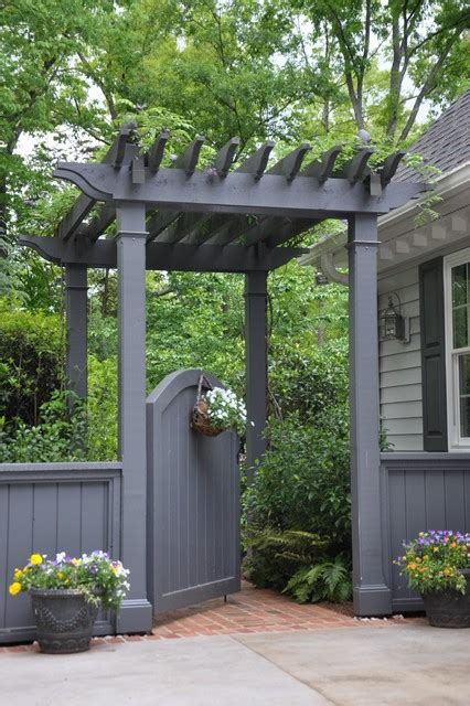 Backyard Entrance Ideas Entrance From Driveway To Back Yard Traditional