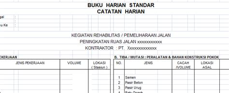 format buku harian akuntansi contoh format buku kas bulanan kumpulan file laporan