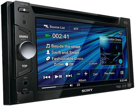 Singledin Dvd Usb Radio Merk Dhd Car Audio sony xav 64bt in dash 6 1 quot lcd touchscreen car stereo receiver w bluetooth front usb pandora