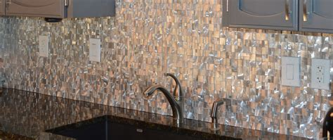 metal mosaics tile for bathroom backsplash home interiors blog articles