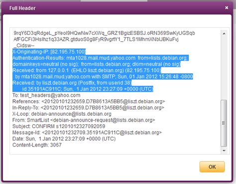 Yahoo Email Header | how to find the sender s original ip address using email