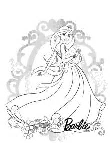 Show Me More Simple Barbie Colouring Pages sketch template
