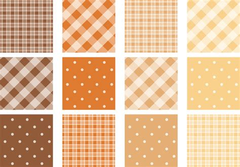 dot pattern vector pack free fall colored plaid and polka dot pattern pack free