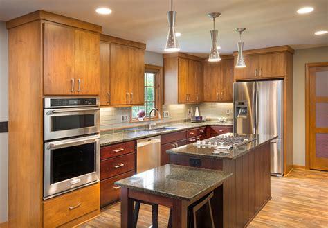 kitchen mid century modern island range stainless light