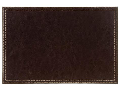 Place Mats by Faux Leather Brown Placemats