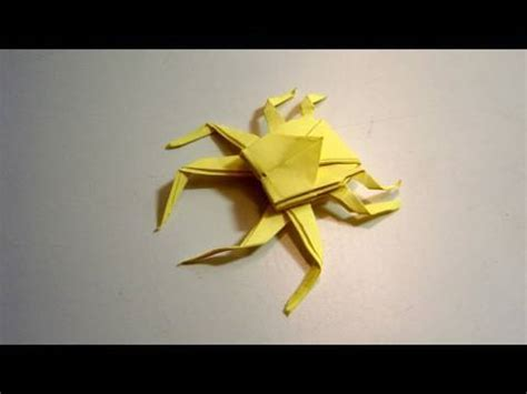 How To Make Origami Spider - origami spider crab