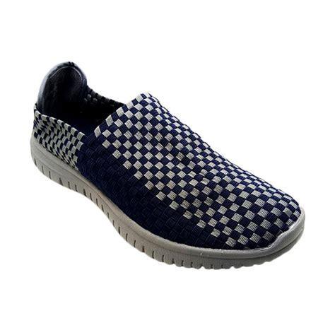 Sepatu Casualsepatu Slopsantaikickers Rajut Pria jual lulia vs25 sepatu rajut pria navy harga kualitas terjamin blibli