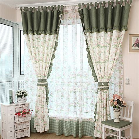 Polka Dot Bedroom Curtains by Country Floral Polka Dot Window Curtains For Bedroom