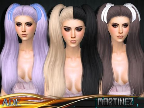 sims 4 long wavy hair without bangs ade darma s ade martinez without bangs