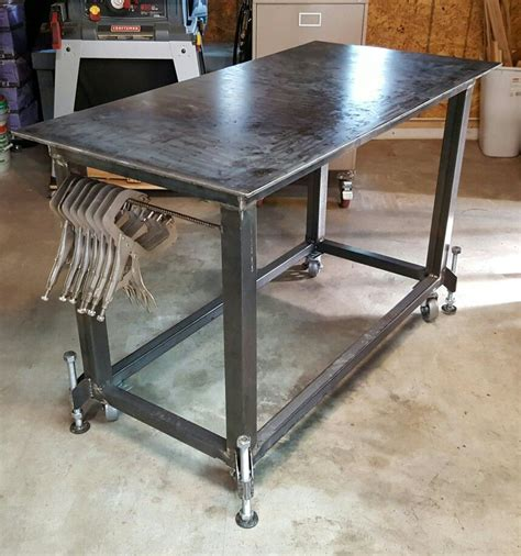 diy welding table plans welding table with leveling pinteres