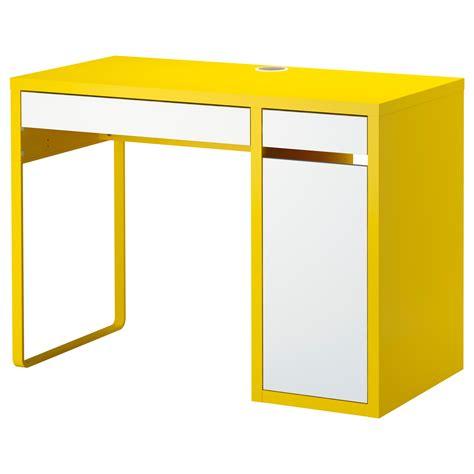 micke desk yellow white ikea desks