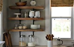 ideas for shelves in kitchen decorating ideas for kitchen shelves open kitchen