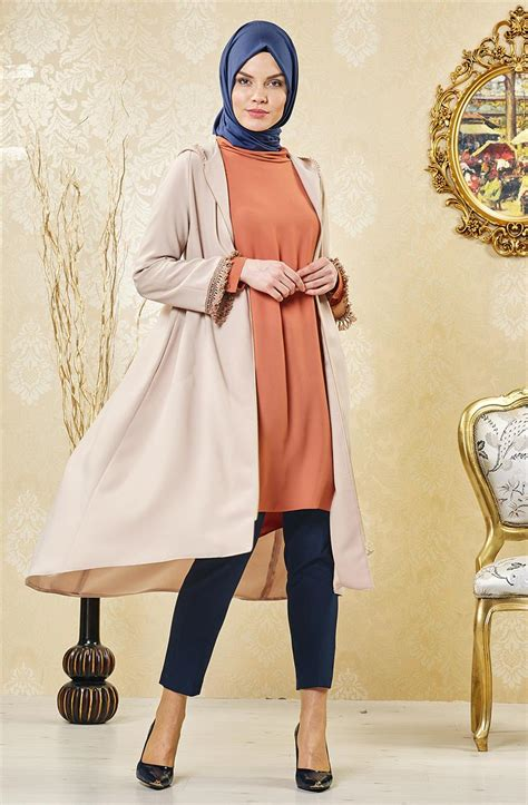 Dress Krem kayra k箟sa ferace krem ka b7 25133 13kayra wear kayra coats dress skirt wrap tunic models