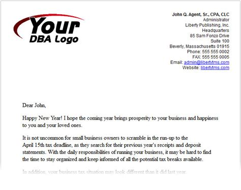 New Year Business Letter Template Turnkey Marketing Solution 187 Libraries