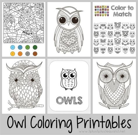 printable owl maze just color free coloring printables