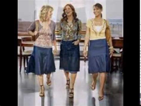 Hq 10334 Denim Skirt With 1 denim skirts knee length