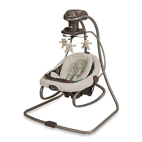 graco side swing swings gt graco 174 duetsoothe swing and rocker in winslet