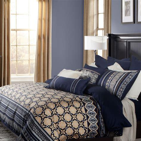 navy and gold bedding designer linen designer bedding sorrento collection