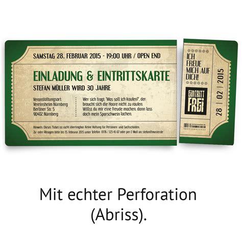 Hochzeitseinladung Festival by Einladungskarten Zum Geburtstag Im Vintage Ticket Look