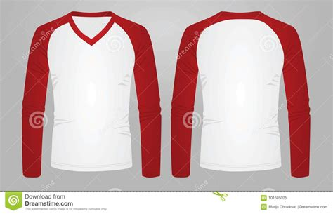 Sleeve Mock Two T Shirt two color sleeve t shirt stock vector illustration