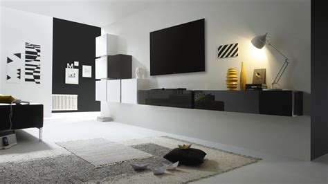 meuble tv blanc laqu 233 suspendu artzein