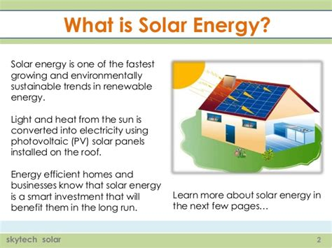 what is the energy the advantages of solar energy