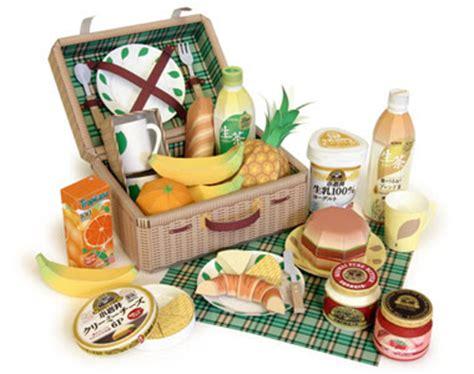 Food Papercraft - kirin picnic basket papercraft papercraft paradise