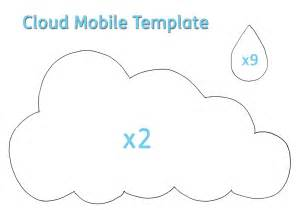 cloud mobile template drip drip drop april shower enjoy creative
