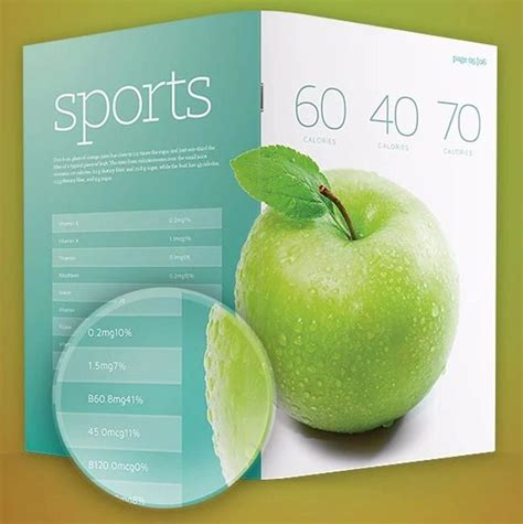 multi page brochure template 6 desain template brosur flyer gratis jurnal web