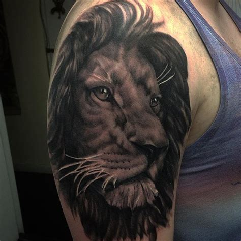 black and grey lion tattoo black and grey lion tattoos tattoo collections