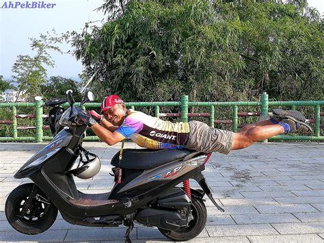 ferry xiaoliuqiu ahpek biker old dog rides again cycling taiwan 2017 day