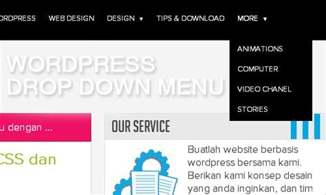 membuat menu dropdown pada wordpress membuat drop down menu pada wordpress dengan css