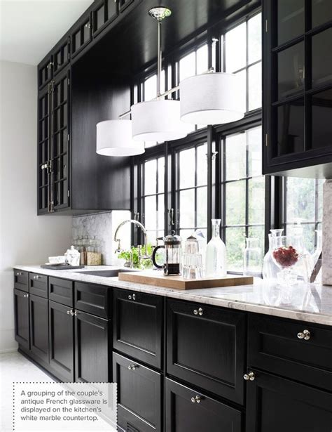 Pictures Of Kitchens With White Cabinets And Black Countertops Best 25 Black Kitchen Cabinets Ideas On Black Kitchens Kitchen With Black Cabinets