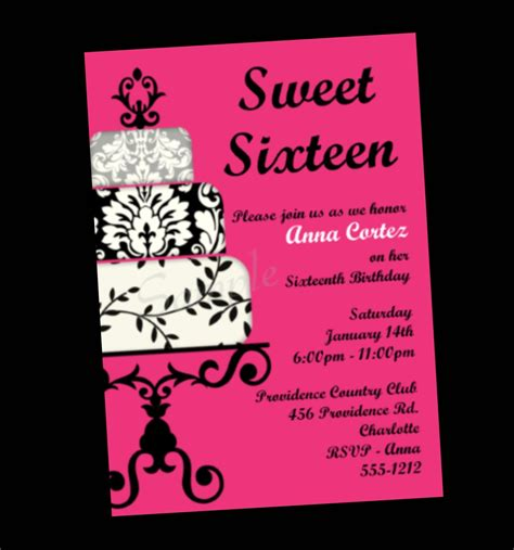 Sweet 16 Invitation Card Templates by Chandeliers Pendant Lights