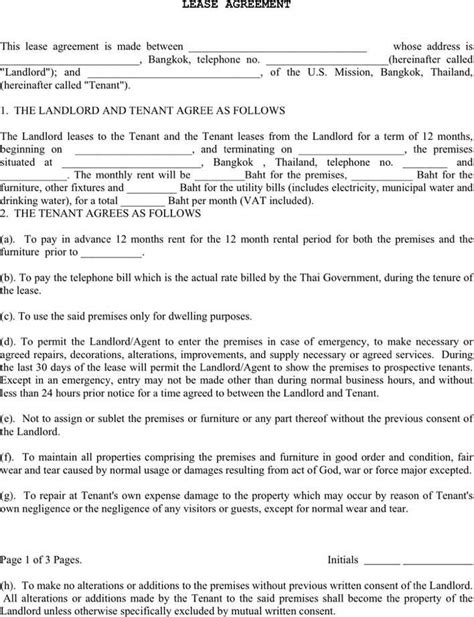 excluded tenancy agreement template lease agreement 2 free premium templates