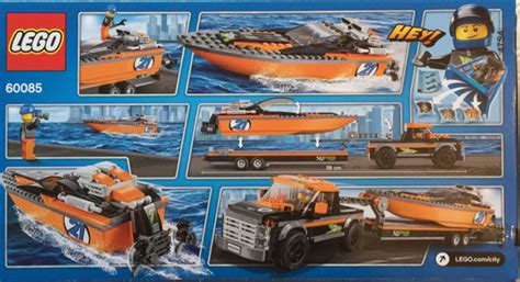Lego 60085 City 4x4 With Powerboat lego city great vehicles 4x4 with powerboat 60085 box set