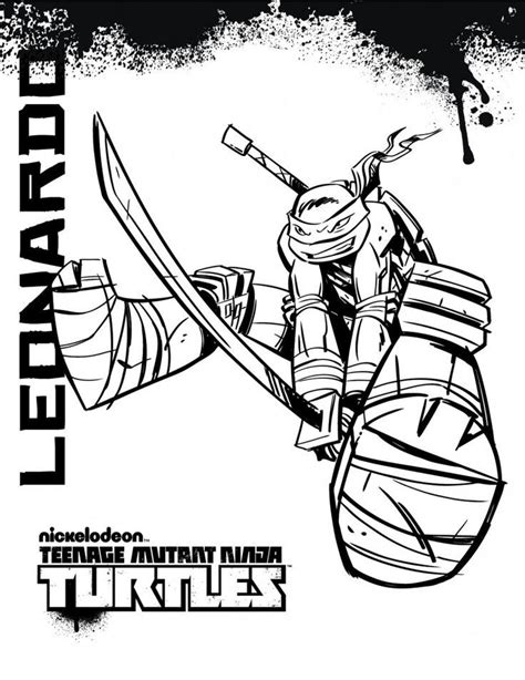 ninja turtles thanksgiving coloring pages leonardo ninja turtle coloring page coloring home