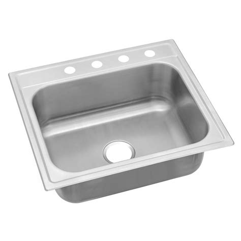 Top Stainless Steel Kitchen Sinks by Elkay Top Mount Stainless Steel 25 In 4 Single Bowl