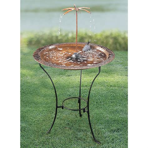 copper bird bath dripper fountain 102383 bird houses