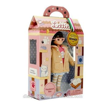 design doll box reasonable price unique design customized doll packaging